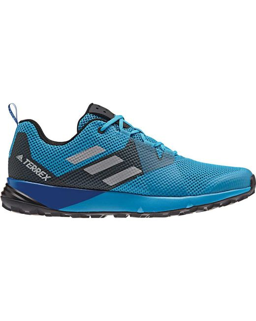 new styles 5f1a1 1fbab Adidas - Blue Terrex Two Trail Shoe for Men - Lyst ...
