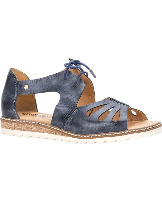 8e707196dcae Lyst - Pikolinos Alcudia Lace Up Sandal W1l-0917 in Blue