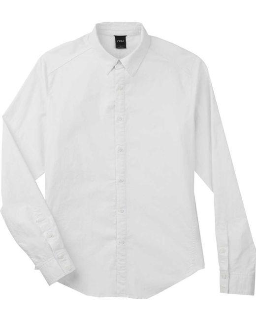 Nau - White Long Sleeve Entwine Shirt for Men - Lyst