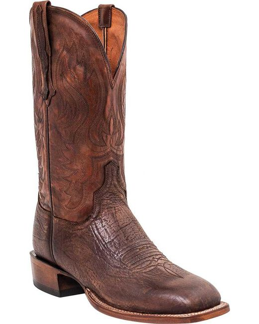 Lucchese Bootmaker - Brown Miller W Toe Western Boot for Men - Lyst
