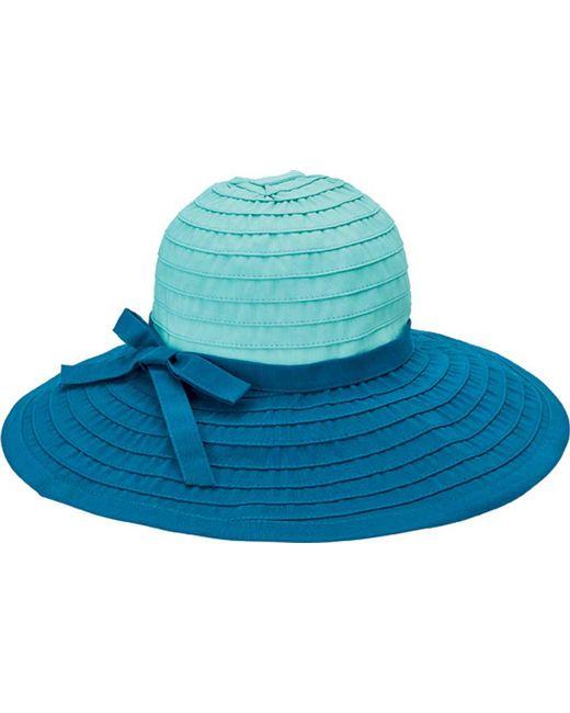 San Diego Hat Company Green Ribbon Large Brim Hat W/ Bow Rbl299