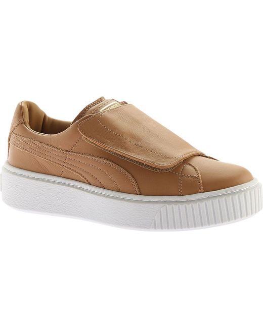 PUMA - Brown Basket Platform Strap Sneaker - Lyst