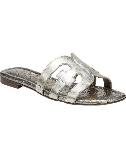d6c80a086 Lyst - Sam Edelman Women s Bay Slide Sandals in Metallic - Save 51%