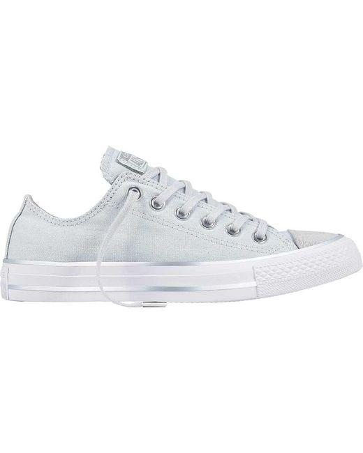 fb7cddfa5c6b Lyst - Converse Chuck Taylor All Star Metallic Toe Low Sneaker in ...