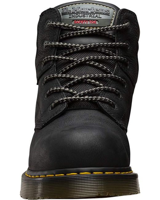 8a40a7bd434f8e ... Dr. Martens - Black Hynine 6-tie Steel Toe Boot for Men - Lyst ...