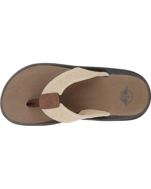 11dae28178e0 ... Dockers - Natural Skipper Thong Sandal for Men - Lyst ...