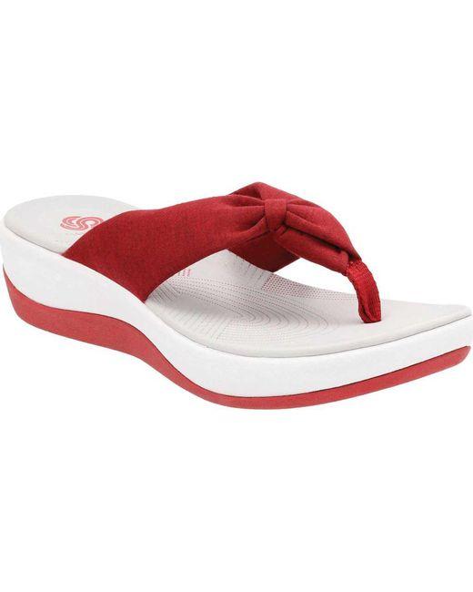 Clarks - Red Arla Glison Thong Sandal - Lyst