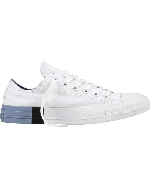 079f0be2d3555a Converse - White Chuck Taylor All Star Color Block Low Sneaker for Men -  Lyst ...