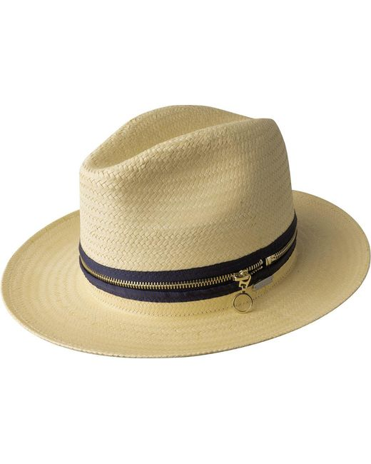 Kangol - Natural Zip Mylo Wide Brim Fedora for Men - Lyst
