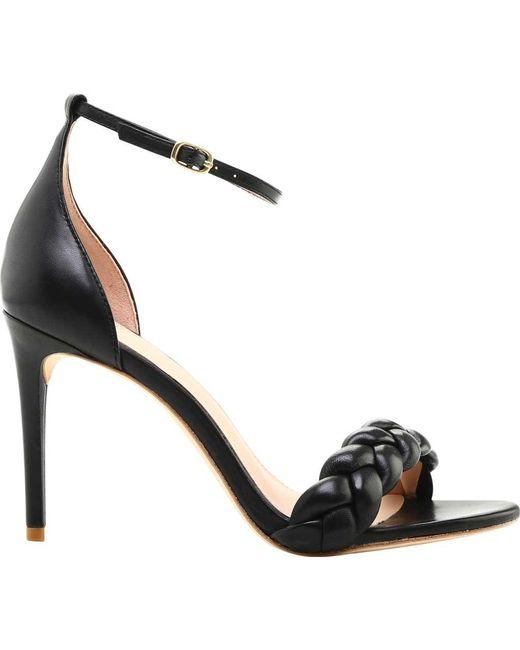 Rachel Zoe - Black Ashton Braided Nappa Leather Ankle Strap Sandal - Lyst