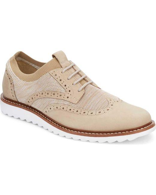 G.H. Bass & Co. - Natural Buck 2 Knit Wingtip Oxford for Men ...