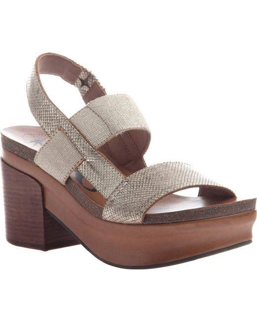 Otbt Metallic Indio Block Heel Slingback Sandal