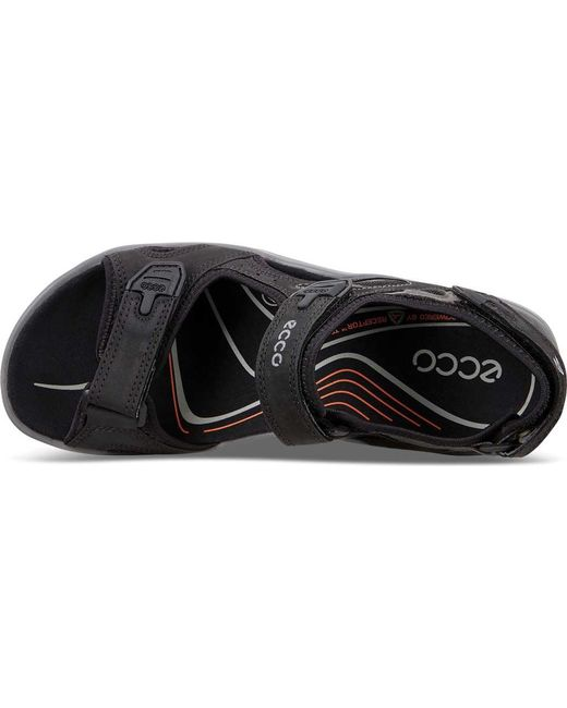 8c8261eee528 ... Ecco - Black Offroad Lite Ii Walking Sandal for Men - Lyst ...