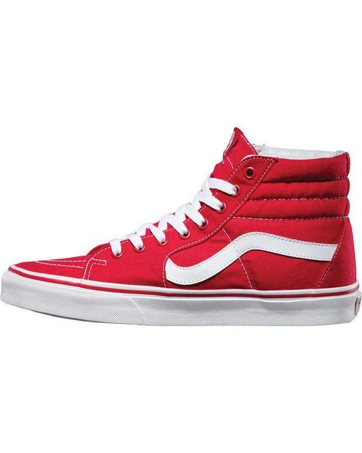b11d4330478 Lyst - Vans Sk8-hi Rumba Red  True White in Red for Men - Save 38%