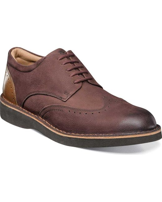 Florsheim - Brown Navigator Wingtip Derby for Men - Lyst