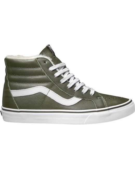 6a1c51f6ddb80b Vans - White Premium Leather Sk8-hi Reissue High Top for Men - Lyst ...