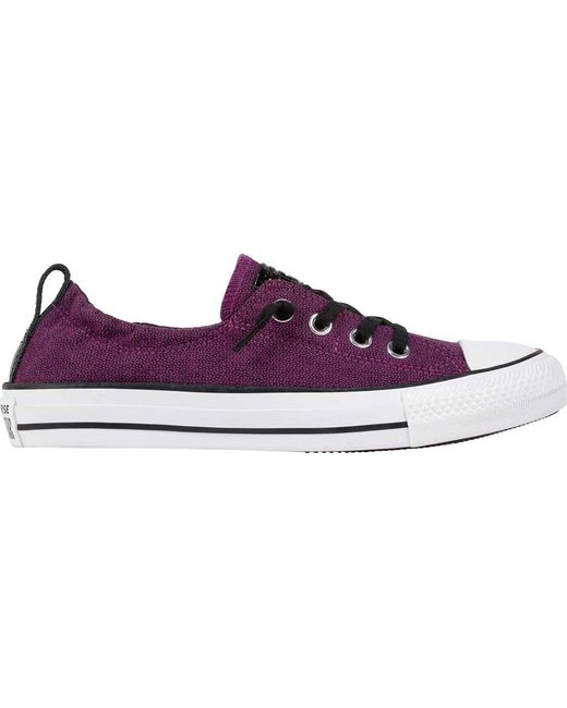 3fd24f82ae7d78 Lyst - Converse Chuck Taylor All Star Shoreline Slip in Purple ...