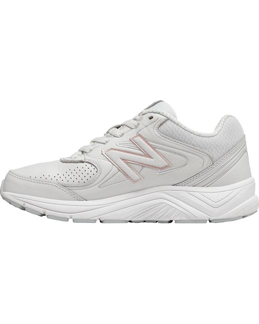 New Balance WW840v2 Walking Shoe(Women's) -Grey/Rose Gold Leather Clearance Low Price Cheap With Paypal Outlet 2018 Discount Affordable fxAkAMRn