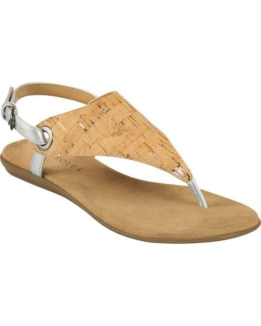 Aerosoles Metallic In Conchlusion Slingback Thong Sandal