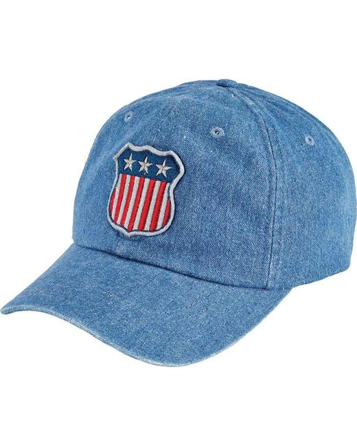 San Diego Hat Company - Blue Unstructured/curved Brim Cap With Patch Slw1006 for Men - Lyst