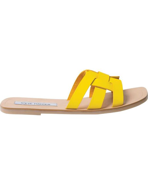 14fdb976a34 Lyst - Steve Madden Sicily in Yellow - Save 55%