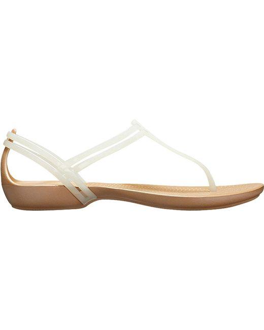 c2893d2d7 Lyst - Crocs™ Isabella T-strap Sandal in Metallic - Save 21%