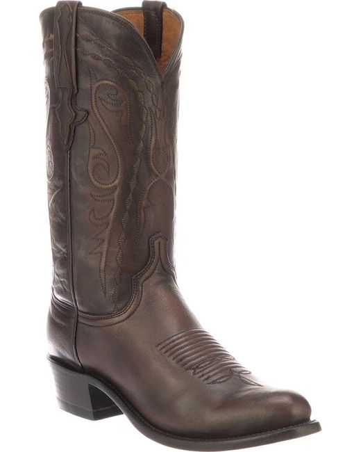 Lucchese Bootmaker - Brown Nick 7 Toe Western Boot for Men - Lyst