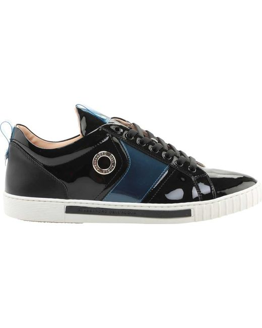 Alessandro Dell'acqua - Blue Range Polished Leather Sneaker for Men - Lyst