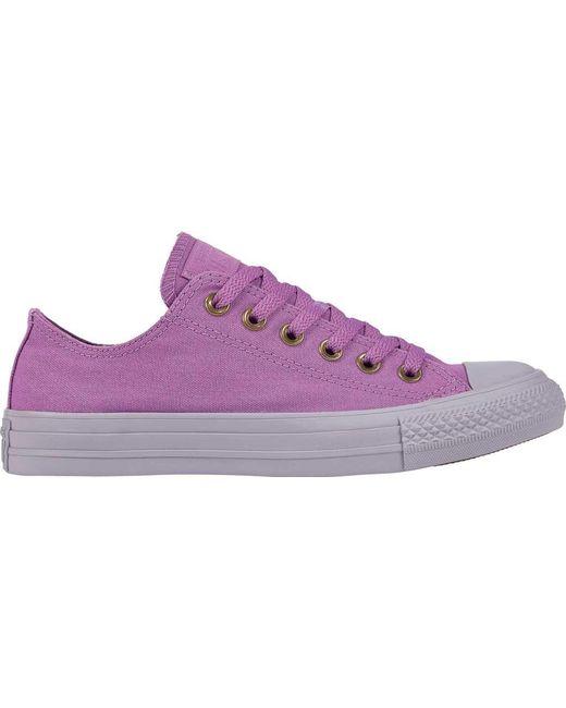 5b72db7b191 Converse - Purple Chuck Taylor All Star Low Sneaker - Lyst ...