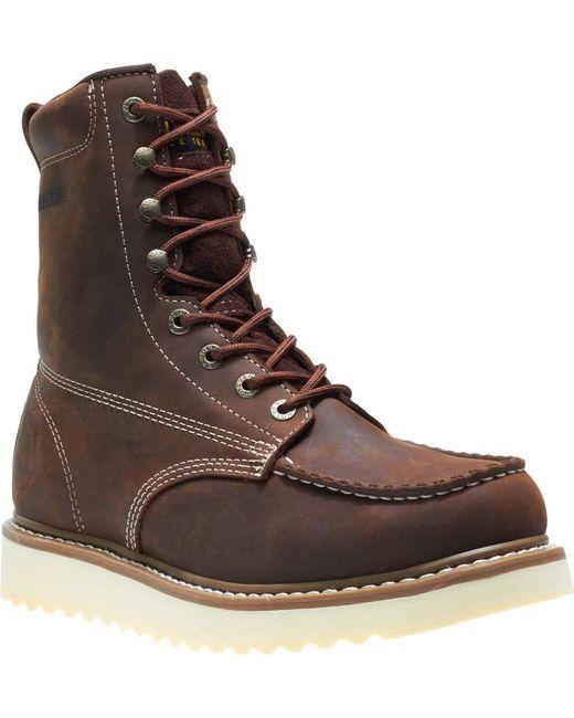 "Wolverine - Brown Loader 8"" Wedge Soft-toe Boot for Men - Lyst"