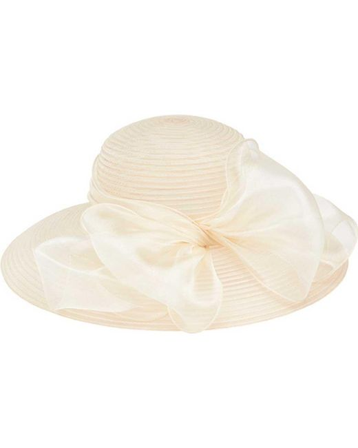 San Diego Hat Company - White Poly Dress Hat With Oversized Bow Drs1010 - Lyst