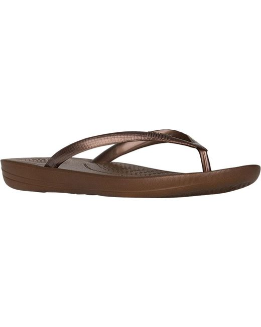 Fitflop | Brown Iqushion Ergonomic Flip-flop | Lyst