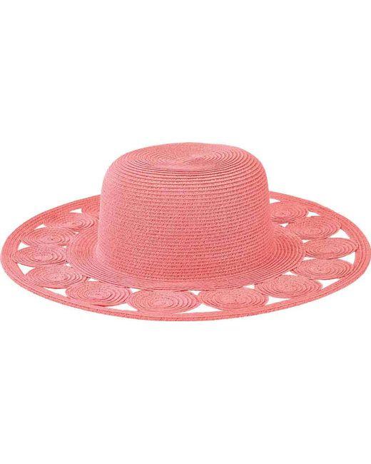 71c08702 San Diego Hat Company - Pink Round Crown Sun Hat With Circular Details  Ubm4459 - Lyst