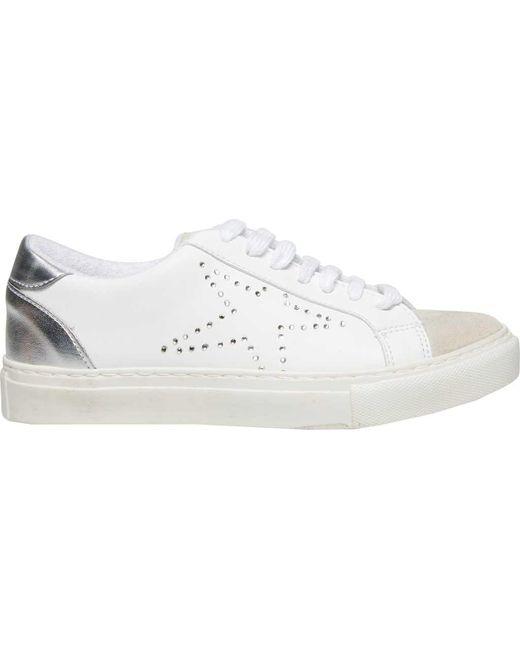 Steve Madden White Rezume Sneaker