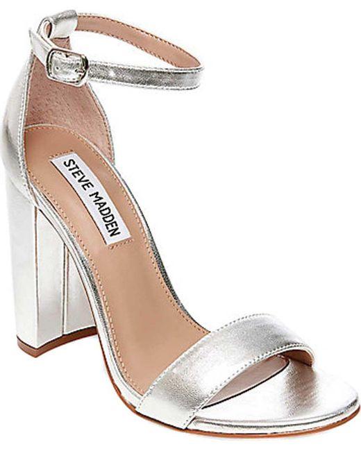 Steve Madden - Metallic Carrson Ankle Strap Sandal - Lyst