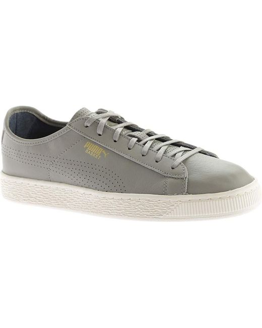 PUMA - Gray Basket Classic Soft Sneaker for Men - Lyst