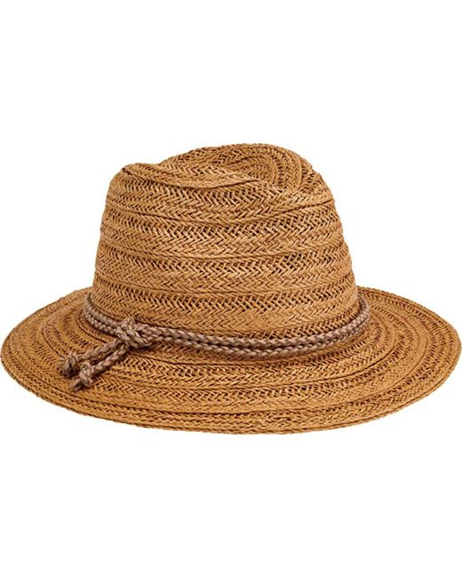 b7c6d3d7d San Diego Hat Company - Natural Fedora With Double Knot Braid Trim Pbf7312  - Lyst
