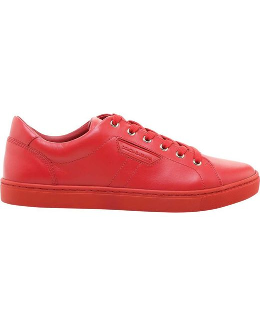Dolce & Gabbana - A3444 Leather London Red/rosso Sneaker for Men - Lyst