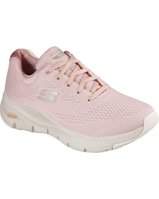 Skechers Pink Arch Fit Sunny Outlook Sneaker