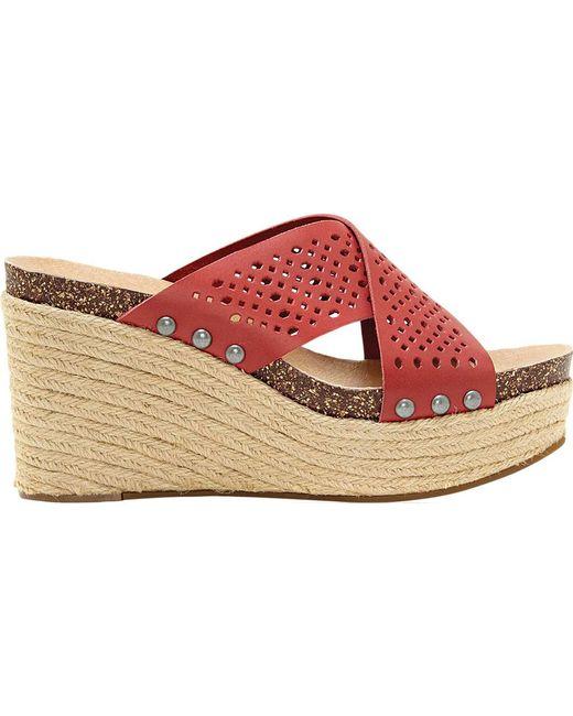 9d15dc5081c ... Lucky Brand - Red Neeka Slide Wedge Sandal - Lyst ...