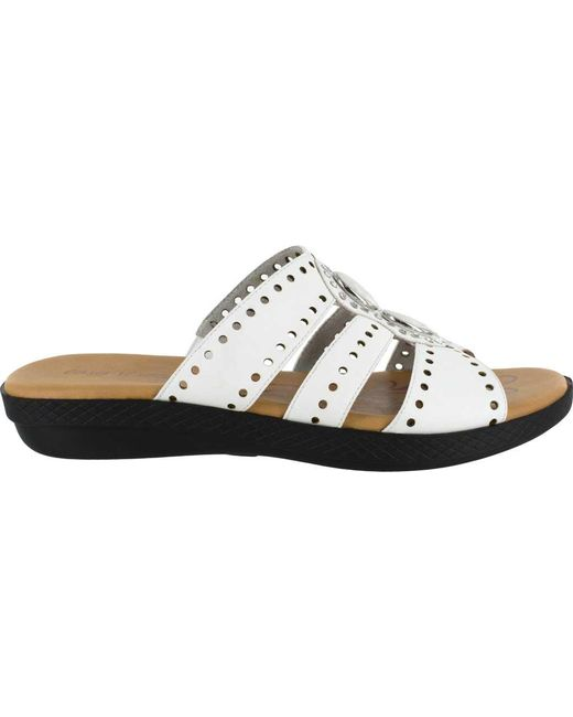 baf771dc2d25 Lyst - Easy Street Vara Jeweled Sandals in White - Save 2%
