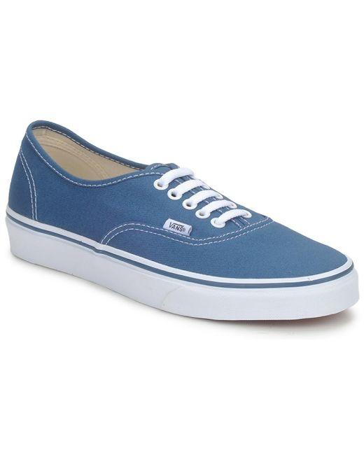 AUTHENTIC femmes Chaussures en bleu Vans en coloris Bleu - 30 % de ...