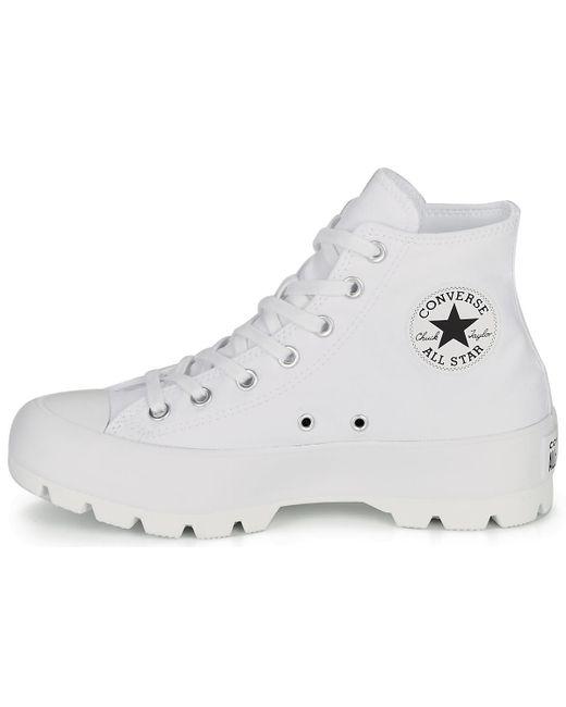 Baskets blanches CTAS Lugged Hi Converse en coloris White