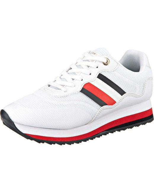 Tommy Hilfiger Wo Trainers White Sporty Tommy Retro Runner Fw0fw04688