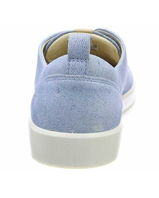 Ecco Leather Trainers in Blue - Lyst