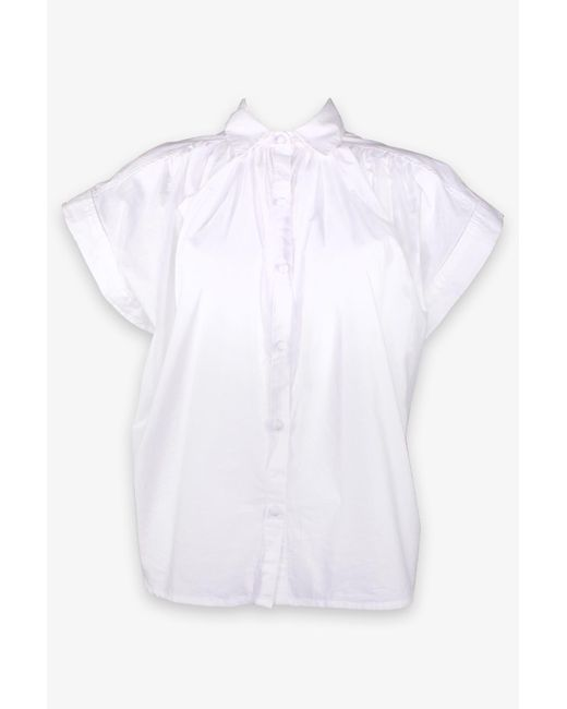 Citizens of Humanity Penny Short Sleeve Blouse In Star White