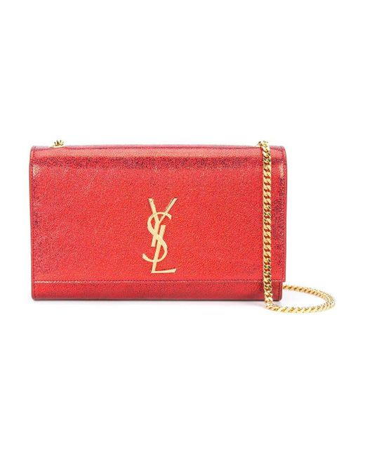 Saint Laurent | Red Monogram Leather Shoulder Bag | Lyst