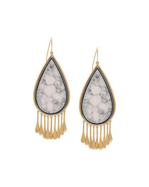 Aurelie Bidermann   Metallic Drop-shaped Earrings   Lyst