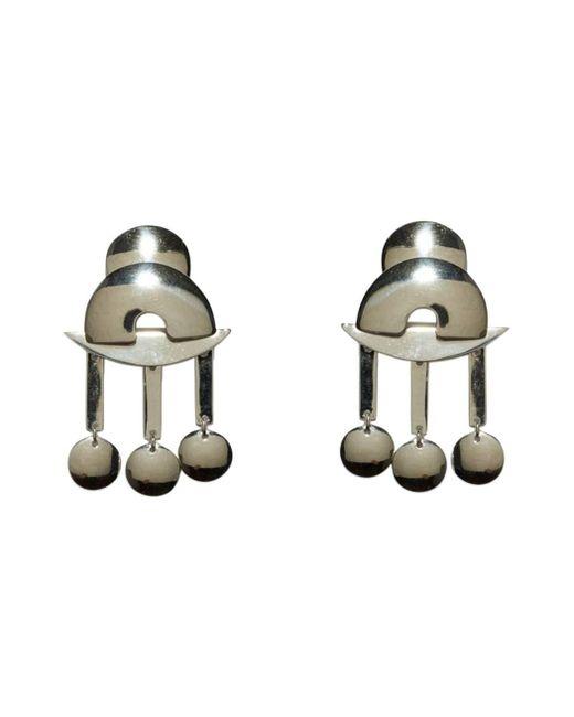 Lizzie Fortunato | Metallic Silver Temple Earrings | Lyst