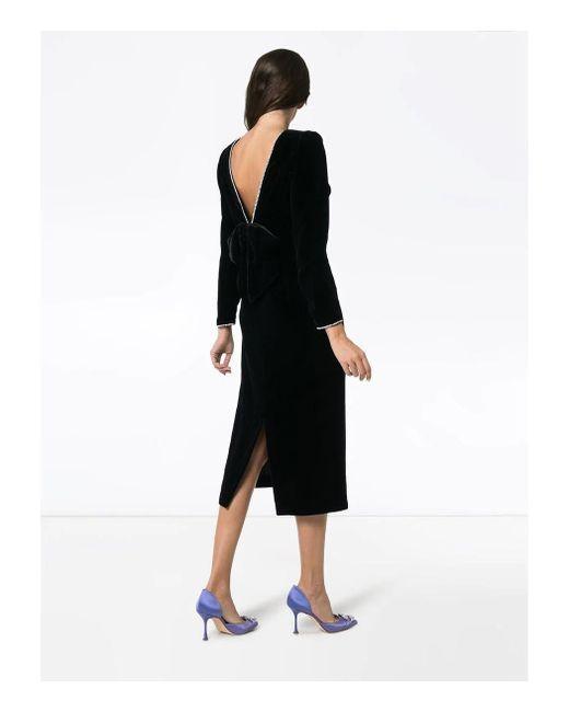 3f17c5c76 ... Gucci - Black Bow Detail Dress - Lyst ...